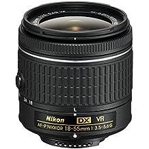 Nikon AF-P DX NIKKOR 18-55mm f/3.5-5.6G VR - Objetivo (SLR, 12/9, Automático/Manual, 18 - 55 mm, Negro)