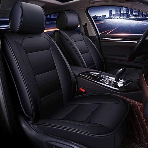 DaFei Coprisedili per Auto, Set Completo A 5 Posti Universali Airbag Compatibili Anteriore E Posteriore Materiale Protettivo in Pelle (Colore : Nero)
