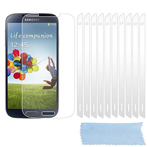 Preisvergleich Produktbild Cadorabo Displayschutzfolien für Samsung Galxy S4 - Schutzfolien in HIGH CLEAR – 10 Stück hochtransparenter Schutzfolien gegen Staub,  Schmutz und Kratzer