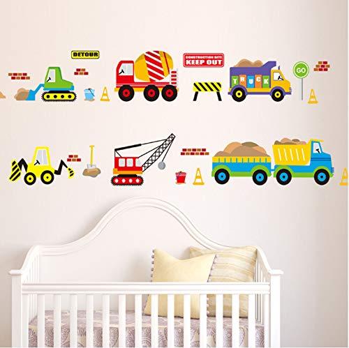 Cartoon vehicle traffic cars buses adesivi murali per la camera dei bambini soggiorno asilo nido d'infanzia decorazione della casa impermeabile adesivo murale camera letto