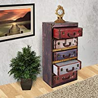 Vogue GF-L365 Cabinet with Drawer, Multi Color - H 92 cm x W 29 cm x D 45 cm