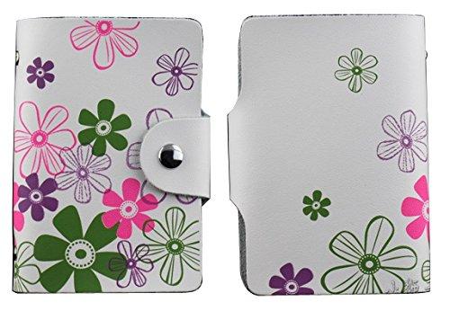 MYLB LEDER KREDITKARTENETUI KARTENETUI VISITENKARTENETUI mit Platz für 26 Kreditkarten bei Doppelbelegung mit Karten (QGY-BK) CLH