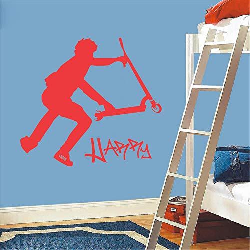 Wohnkultur Hefter für Wanddekoration Kinder Wandaufkleber DIY Extra große Roller Stunt benutzerdefinierte Wandtattoos Vinyl Aufkleber 46x58cm