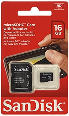 SanDisk SDSDQB-002G-B35 Class 2 MicroSD Card Including MicroSD to SD Adapter - PARENT ASIN