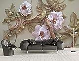 BHXINGMU Wandbild Benutzerdefinierte Wandbild Fototapete Blume Baum Kunst Tapete Schlafzimmer Wanddekoration 150Cm(H)×200Cm(W)