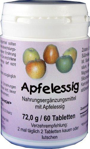 Apfelessig Tabletten 60 Stück - Entschlackung, Gewichtskontrolle, Verdauung