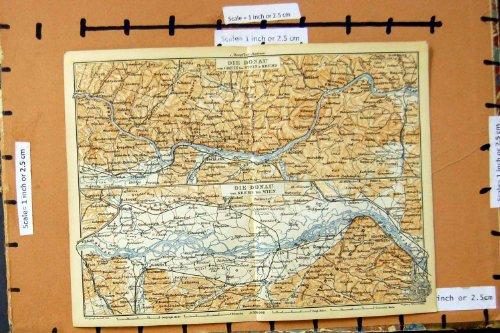LA MAPPA 1893 MUORE DONAU GERMANIA DI DONAU GREIN KREMS WEIN