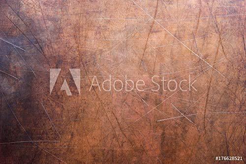 druck-shop24 Wunschmotiv: Metal Sheet Stripped, Texture of Copper Old Plate #176628521 - Bild hinter Acrylglas - 3:2-60 x 40 cm / 40 x 60 cm - Copper Sheet Stock