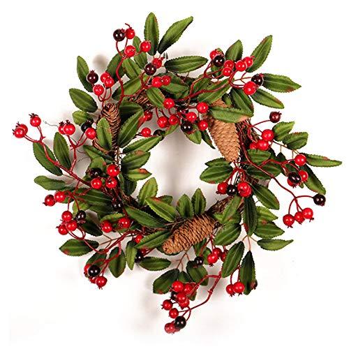 belupai K¨¹nstliche Thanksgiving Herbst Haust¨¹r Kranz Handwerk Gr¨¹n Blume Bl?tter Garland Innenwanddekor Ornamente F¨¹r Herbst (rot) -