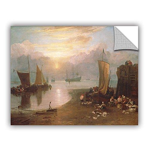 ArtWall William Turner's Sun Rising Through Vapour Art Appeelz Wanddekoration, abnehmbar 14x18