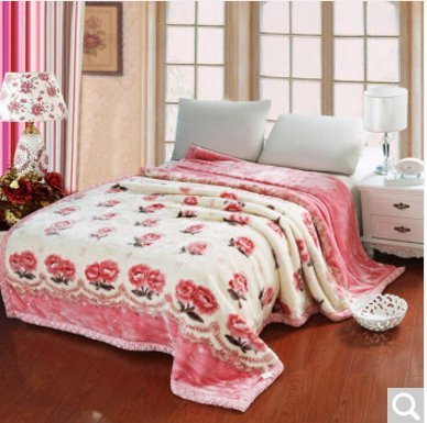 BDUK Die Decke ist mit dicken Decken Hochzeit Raschel Decke Warm Winter decken, Abschn. G) ,150*200cm5 Catty
