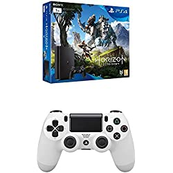 PlayStation 4 Slim (PS4) 1TB - Consola + Horizon Zero Dawn + DualShock 4 Glacier White V2 adicional