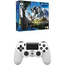 PlayStation 4 Slim (PS4) 1TB - Consola + Horizon Zero Dawn + DualShock 4 Glacier White V2 adicional
