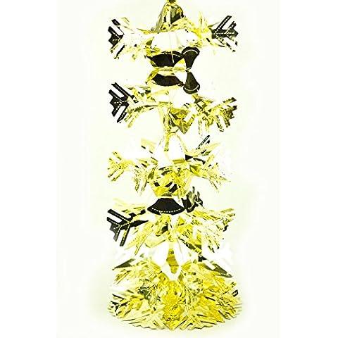 2,7m Luxus Weihnachtsdekoration Folie Garland Große Xmas Deckenleuchte - gold