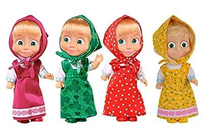 Mascha und der Bär Puppe Colourful 12 cm Masha i Medved Masha and the Bear Misha