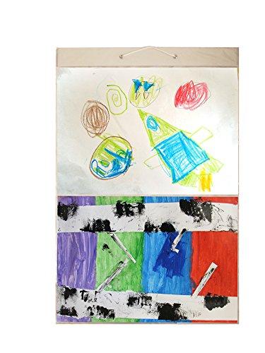 Bild Taschen Mega (Größe AA) hängen Foto Galerie-80Fotos in 40Taschen (wendbar) flach Pack, Plastik, Transparent, Art (A3) - 3 A3 Pockets -