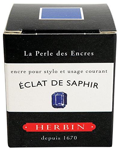 J.Herbin 13016 Tinte für Füller, 30 ml, saphirblau
