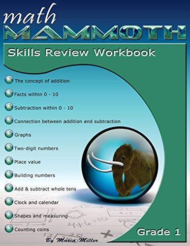 Math Mammoth Grade 1 Skills Review Workbook