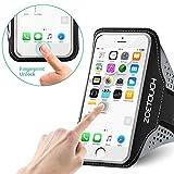 ZOETOUCH Sport-Armband Wasserdichte Laufarmband mit Reflektorstreifen, Kopfhörerhalter und Schlüsselloch für iPhone X / 8 Plus / 7 Plus/Galaxy S7 Edge/LG G6 und Mehr Smartphones bis 6,3 Zoll