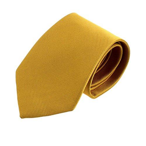 Oyedens Art Und Weise Klassische Feste Bindung Jacquard Farbe Gestreift Gewebt Luxus Der MäNner Krawatte (Golden) (Weiß-gestreift Krawatte Handgemachte Seide)