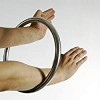 Anillo de acero inoxidable Wing Chun YeWen Sau Sticky entrenamiento manual pegajoso de fuerza Tsun Siu Lum Kung Fu, Stell Ring