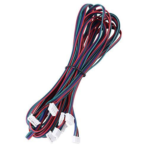 Akozon cavi motori passo passo 5pz pezzi stampante 3d ph2,0-xh2,54 cavo connettore femmina-femmina per nema16 nema17 stepper motor