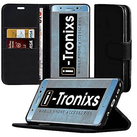 Nokia 5 hülle, Tasche, Nokia 5 Handyhülle Book,Telefonkasten ( Schwarz ) Abdeckung für Nokia 5 Gehäuse aus robuster Kohlefaser Buchstil PU Leder Geldbörse elegante klassische Flip Cover hülle Cover von