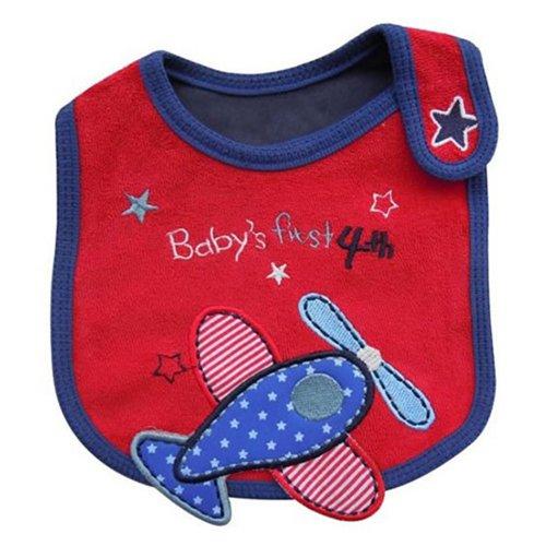 Babero (impermeable), diseño con dibujos rojo Airplane Pattern