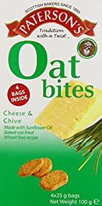 Paterson Arran Oat Bites Cheese and Chive 25 g (Pack of 8)