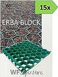 WUEFFE S.R.L. Grigliato salvaprato salvaverde in plastica carrabile Erba Block - 15 Pezzi