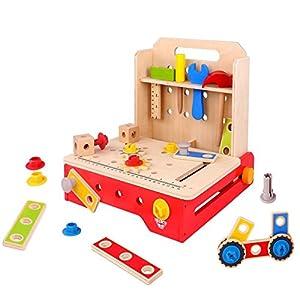 Tooky Toys TKC465 - Banco de Trabajo Plegable de Madera
