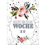 Babybauch Fotokarte für die Schwangerschaft mit 2 Designs - Made in Germany - Meilensteinkarte für Schwangere - Schwangerschaftstagebuch
