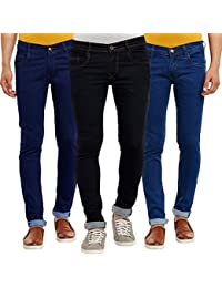Waiverson Slim Fit Men's Multicolor Jeans  (Pack of 3)