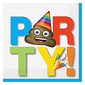 Unique Party 50912celebración Emoji papel servilletas, Paquete de 16