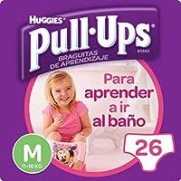 Huggies Pull-Ups - Braguitas de aprendizaje para niñas, talla M (11-