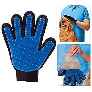 Animal propre Coupe de poils bain Massage Gant Brosse Cheveux Peigne pour chiens chats LAPINS Chinchillas - deShedding Brosse - Main droite