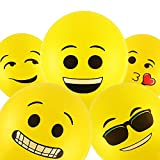 #9: Smartcraft Emoji Balloons Latex Yellow Emoji Smiley Balloons (Pack of 25)