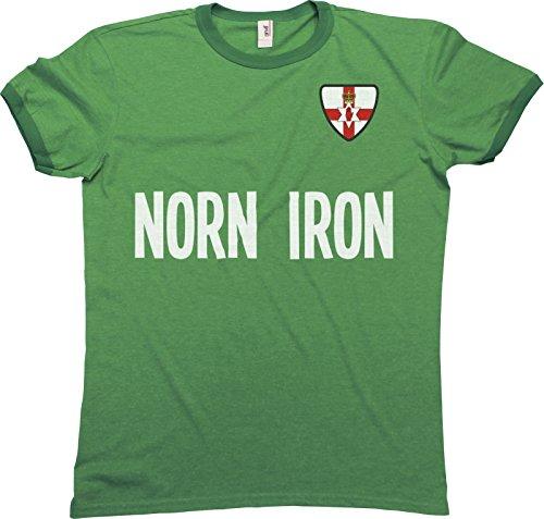 Mens Northern Ireland Norn Iron Name Herren Ringer Retro T-Shirt Sports Football Patriotic