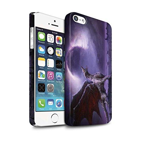 Offiziell Chris Cold Hülle / Matte Snap-On Case für Apple iPhone 5/5S / Pack 10pcs Muster / Dunkle Kunst Dämon Kollektion Drachen/Finsternis