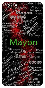 Mayon (The Black God) Name & Sign Printed All over customize & Personalized!! Protective back cover for your Smart Phone : Samsung Galaxy Note-3