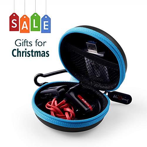 Mini Kopfhörer Tasche mit Schnalle, HiGoing Headset ohrhörer Schutztasche für In Ear Ohrhörer, MP3 Player, iPod Nano, Schlüssel, Lovely Macarons Aussehen (Innenmaß 6.8cm x 6.8cm x 4.0cm)