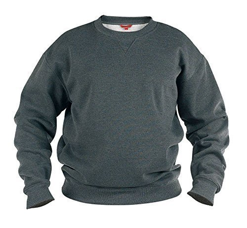 Big And Tall Sweatshirt (ROCKFORD RUNDHALS BAUMWOLL-POLYESTER FLEECE SWEATSHIRT (1616) GRÖßE 1XL TO 8XL, SCHWARZ, GRAU UND MARINEBLAU - Grau, 6XL)