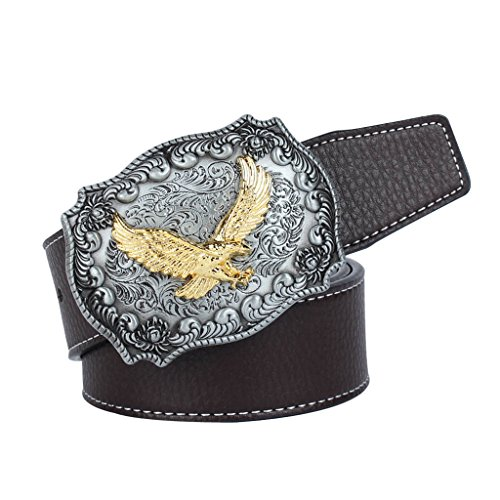 Apparel Accessories Fashion Men Cow Skin Belt West Cowboy Belt Skull Bull Head Buckle Cowskin Leather Waistband Male Friend Birthday Gift Suitable For Men And Women Of All Ages In All Seasons