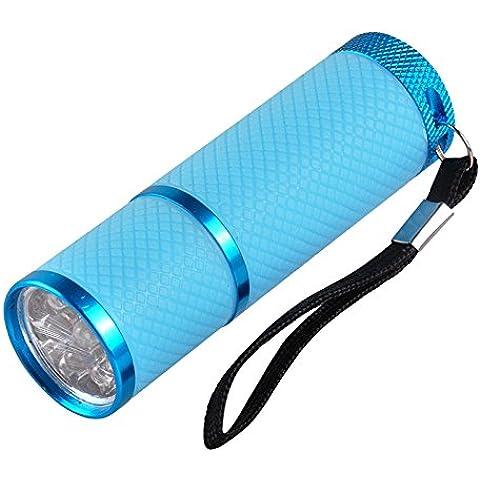 ewinever(R) 1pcs Mini 9 Led Clava La Lámpara De Curado Secadora Antorcha De La Linterna Para Ultravioleta Del Gel Esmalte De Uñas