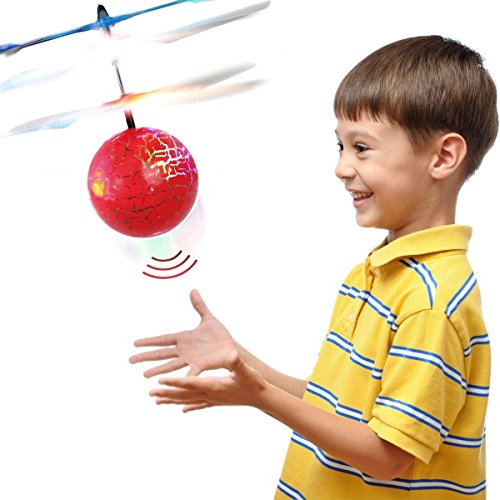 Toys for 3-12 Year Old, Top Gift RC Flying Ball Helicopter Gifts for Teen Boys Girls Red TGUKTGFLB04