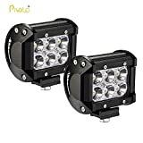 #9: Pivalo 6 Led Fog Light / Work Light Bar Spot Beam Off Road Driving Lamp 2 Pcs 18W Cree - Universal Fitting Hence Good Fit On All Bikes And Cars