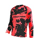 Uglyfrog Designs Bunt Erwachsener Motocross Jersey Thermo Fleece Winter Cross Offroad Enduro Downhill Shirt Atmungsaktiv Lange Ärmel Rundhalsausschnitt or V-Ausschnitt SJFWF07