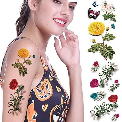 tzxdbh 3Pcs 3D Schmetterling Tattoo Decals Body Art Aufkleber Flying Butterfly wasserdichtes Papier temporäre Tätowierung Aufkleber -
