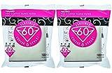 Hario 02 100 Ergebniskaffee Papierfilter, Weiß, schätzt Satz von 2 Schachteln (belaufe dich auf 200 Blätter)