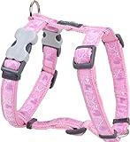 Red Dingo Hundegeschirr, gemustert, Größe S, 1,5cm breit, Farbe Breezy Love Pink